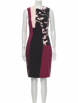 Prabal Gurung Colorblock Pattern Knee-Length Dress w/ Tags Pink
