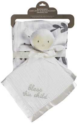 C.R. Gibson BLESSINGS Christening Swaddle Gift Set