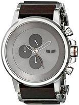 Vestal Men's PLWCM001 Plexi Wood Analog Display Japanese Quartz Silver Watch