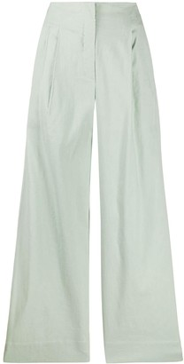 Tela Wide-Leg Flared Trousers