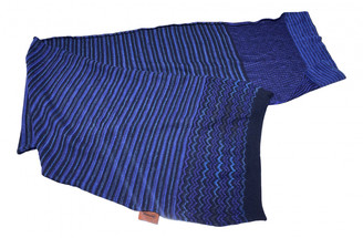 Missoni Blue Wool Scarves & pocket squares