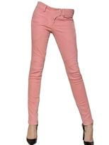 Balmain Stretch Cotton Denim Biker Jeans