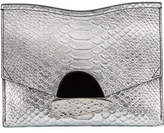 Proenza Schouler Curl Small Python-Embossed Clutch Bag