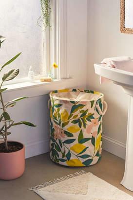 Lemons Printed Canvas Laundry Bag