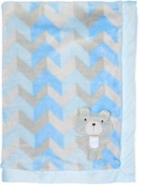 Baby Essentials Small-Chevron Bear Receiving Blanket