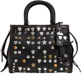 Coach Small Studded Leather Top Handle Bag