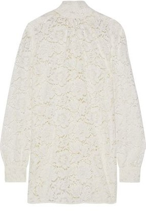 Valentino Cotton-blend Corded Lace Blouse