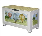 The Well Appointed House Handpainted Hot Air Balloons Toy Chest