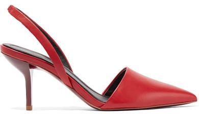 Diane von Furstenberg Mortelle 皮革露跟高跟鞋