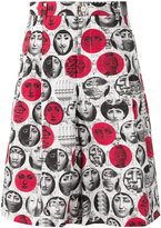 Comme des Garcons x Fornasetti face print shorts - men - Cotton - L