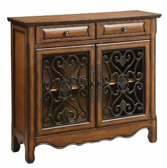 Abramowitz 2 Drawer 2 Door Accent Cabinet Fleur De Lis Living
