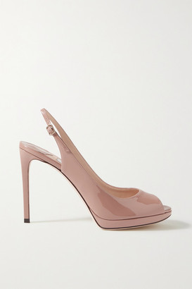 Jimmy Choo Nova 100 Patent-leather Slingback Sandals - Antique rose