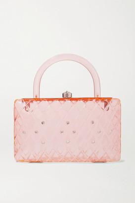 HVN Rio Crystal-embellished Acrylic Tote - Pink