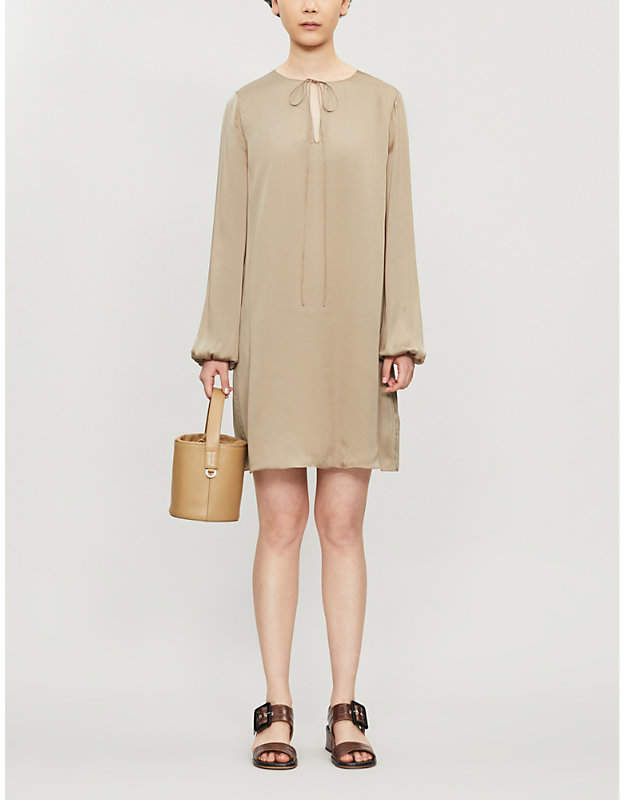 Theory Keyhole-front silk-blend dress