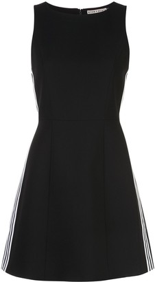 Alice + Olivia Contrast Panel Skater Dress
