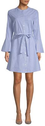 Design 365 Stripe Bell-Sleeve Tie Dress
