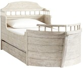Pottery Barn Kids Voyager Bed and Trundle, Water-based Weathered White