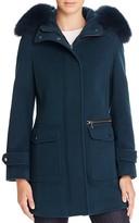 Trina Turk Addilyn Fox Fur Walker Coat