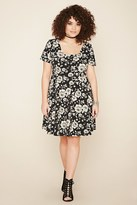 Forever 21 FOREVER 21+ Plus Size Strappy Floral Dress