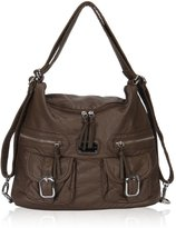 Hynes Victory Slouchy Washed Hobo Handbag Backpack