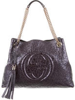 Gucci Ostrich Soho Shoulder Bag