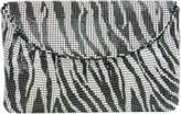 Whiting & Davis Zebra Print Clutch.