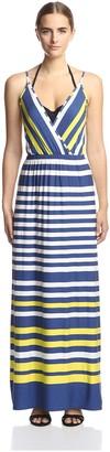 OndadeMar Women's Nautical Spring Maxi Dress