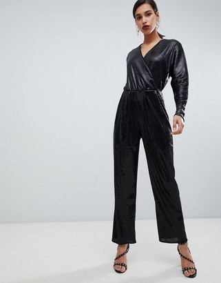 Y.A.S all over sequin wideleg jumpsuit
