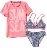 Old Navy 3-Piece Rashguard Swim Set for Girls