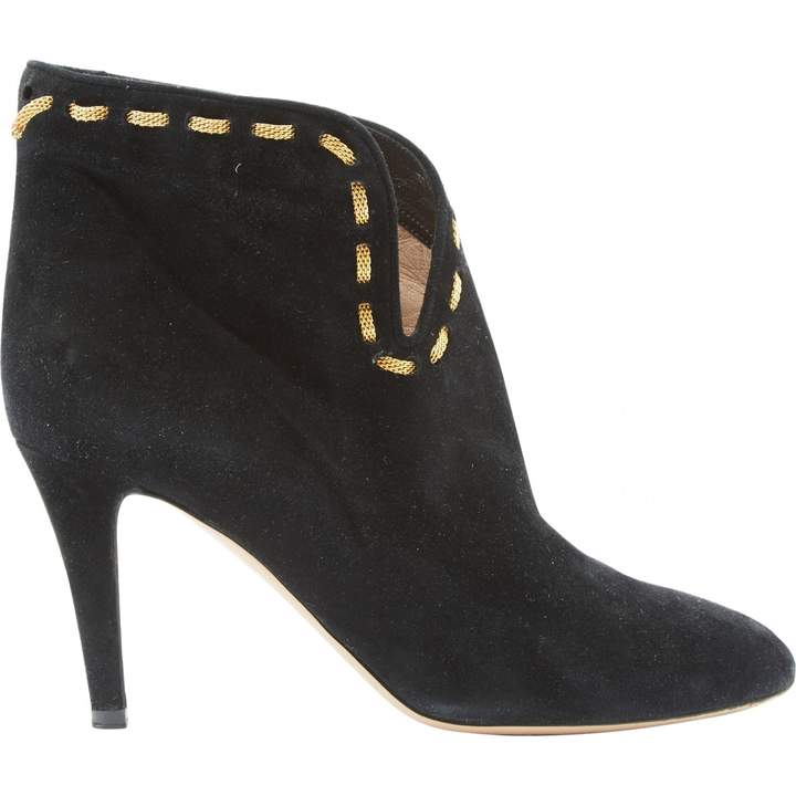 Chloé Black Suede Ankle boots