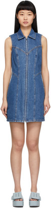 GRLFRND Blue Denim Colette Short Dress