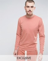 Nocozo Long Sleeve Sweat Top in Washed Pink