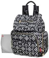 Fisher-Price Shiloh Diaper Bag Backpack - Southwest Print Black and White