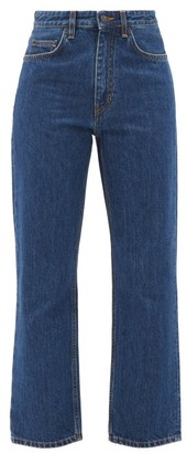 The Row Christie Mid-rise Cropped Straight-leg Jeans - Dark Blue