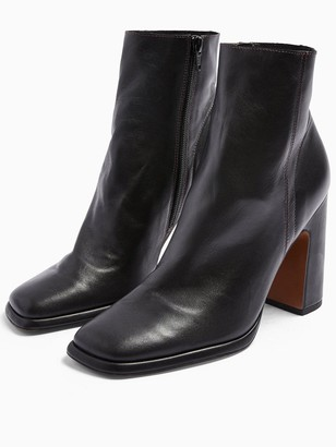 Topshop Holden Platform High Heel Boots - Black