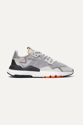 adidas Nite Jogger Ripstop, Mesh And Suede Sneakers - Gray