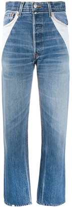 RE/DONE Panelled Straight Leg Jeans