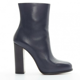 Celine \N Navy Leather Boots