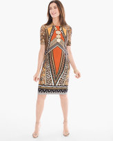 Chico's Tribal Animal-Print Short Dress