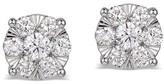 Effy Jewelry Effy Bouquet 14K White Gold Diamond Cluster Earrings, 0.84 TCW