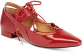 Calvin Klein Women's Evalyn Pointed-Toe Lace-Up Flats