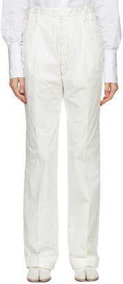 Maison Margiela White Pleated Trousers