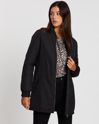 All About Eve Bomber Force Longline Jacket