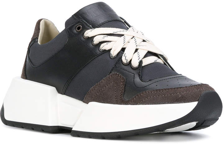 MM6 MAISON MARGIELA wedge lace-up sneakers