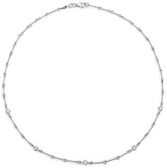 "Roberto Coin Diamond & 18K White Gold Station Necklace/18"""