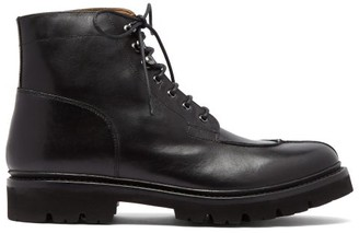 Grenson Grover Leather Lace Up Boots - Mens - Black