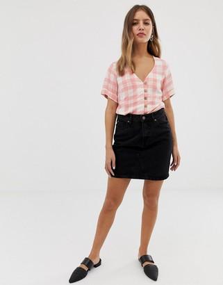 New Look denim skirt in black