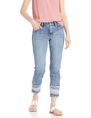 Jag Jeans Women's Plus Size Carter Girlfriend Jean w/Layered Hem