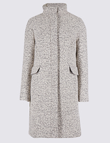 M&S Collection Wool Blend Textured Coat