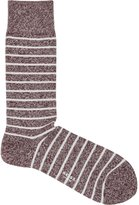 Reiss Grayson - Mottled Stripe Socks in Red, Mens